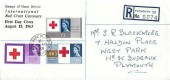 1963 Red Cross Centenary, Registered Display FDC, West Park Plymouth Devon cds