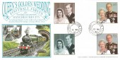 1997 Queen's Golden Wedding Dawn Cardiff - Glasgow TPO FDC, Cardiff - Glasgow TPO (Travelling Post Office) cds