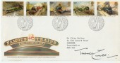 1985 Famous Trains FDC. Signed by Terence Cuneo