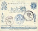 1890 Penny Post Jubilee Souvenir FDC Envelope & insert card bearing all 6 Special Handstamps