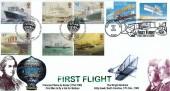 2004 Ocean Liners, Peter Payne Official FDC, First Flight Pilatre de Rozier Flight Approach London NW9 H/S, Doubled USA 22nd May 2003 First Flight Killdevil Hills NC H/S