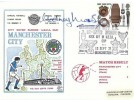 1972 BBC, Dawn Manchester City Official FDC, 3p stamp only, Manchester City Re-Enter Europe Kick off in UEFA Cup Manchester H/S, Signed by Rodney Marsh