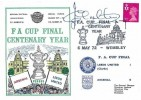 1972 FA Cup Centenary Year Leeds United v Arsenal Wembley Dawn Football Cover, Signed by Jack Charlton