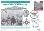 1944 D-Day, Operation Neptune 50th Anniversary Royal Naval Covers FDC, single 25p stamp only, 50th Anniversary of the Invasion of Europe Portsmouth H/S, 5 signatories