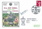 1974 Newcastle United v Liverpool FDC Dawn Football Cover, The FA Cup Final Wembley H/S. Signed by Ian Callaghan
