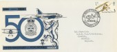 1968 British Anniversaries, RAF Leuchars Forces Official FDC, 50th Anniversary Leuchars Fife H/S