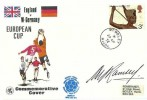 1972 England v W.Germany European Cup Football Cover, Wembley Middx .cds, Signed by Sir Alf Ramsey