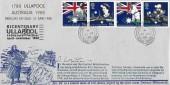 1988 Australian Bicentenary, Anthony Whitmarsh Ullapool FDC, Ullapool Ross-Shire cds + Bicentenary Ullapool 200 Slogan Cachet