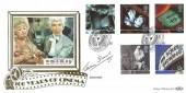 1996 100 Years of Cinema, Benham Gold 500 series No.115 FDC, Centenary of Cinema Pinewood Studios Iver Bucks. H/S. Signed by Actress Joan Sims