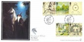 2004 Lord of the Rings, Pair of Bradbury Sovereign No.38 Official FDC's, Enchanted World Art of Anne Sudworth Lancaster H/S