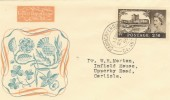 1955 2/6d Carrickfergus Castle on Illustrated FDC, Carrickfergus cds, Rare.