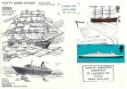 1969 British Ships, Cutty Sark Stamp Posted on Board FDC, Cutty Sark Stamp Day Greenwich H/S