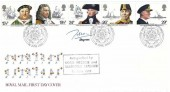 1982 Maritime Heritage, Royal Mail FDC, First Day of Issue Portsmouth H/S, Signed by the current Lord Nelson in 1982, & Marjorie Saynor Stamp Designer
