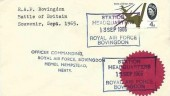 1965 Battle of Britain, Set of 6 x4d Royal Air Force Station Headquarters RAF Bovingdon FDC's, Station Headquarters Royal Air Force Bovingdon H/S