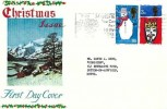 1966 Christmas, Connoisseur FDC, Visit Mansfield The Centre for Sherwood Forest Slogan