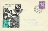1958 Guernsey Regional, Herm Neolithic Man FDC, Herm Local front & back. St,Peter Port Guernsey cds