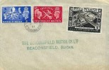 1951 Festival of Britain, Beaconsfield Motors Co.Ltd FDC, 3d Festival of Britain South Bank Exhibition Label, Old Town Beaconsfield Bucks.cds