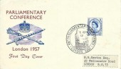 1957 Parliamentary Conference, Crown Sword & Sceptre FDC, 46th Parliamentary Conference London SW1 H/S