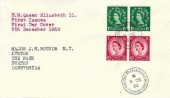 1952, QEII Wilding Definitive Issue, 1½d, 2½d,  J H Bounds Ltd FDC,Cheadle Rd Cheadle Hulme Stockport cds