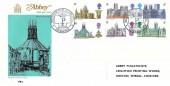 1968 British Cathedrals, Abbey Metropolitan Cathedral Liverpool FDC, Metropolitan Cathedral Liverpool H/S