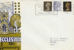 1967 4d, 1/-, 1/9d on Eccles 75th Anniversary FDC
