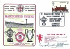 1975 Manchester United Return to Division 1 as Champions Dawn Football Cover, Manchester United Division 2 Champions 1975 Manchester H/S, Signed by Sir Matt Busby