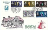 1964 Shakespeare Festival, Mary Arden's House FDC, Shakespeare 400th Anniversary Stratford Upon Avon H/S