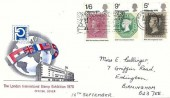 1970 Philympia, London International Stamp Exhibition 1070 Official FDC,Weston Super Mare Fine for Family Holidays in Sunny Somerset Birmingham Slogan