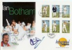 1997 Alderney Cricket Westminster FDC. Signed by Ian Botham
