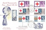 1963 Red Cross Phosphor & Ordinary Stamps, Illustrated FDC West Wellow Romsey Hants. cds