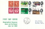 1964 Geographical Congress & Se-Tenant Pane 2s Holiday Booklet, Display FDC, Ryde Isle of Wight cds