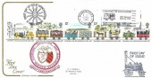 1980 Liverpool & Manchester Railway, Cotswold FDC, Liverpool to Manchester 150 Years of Mail by Rail Manchester Slogan