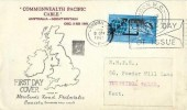 1963 Commonwealth Cable (Compac), Newlands Road Philatelic Society FDC, First Day of Issue London WC Slogan + London WC cds