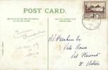 1943 Jersey 1½d Brown Views, Mount Orgueil Jersey Colour Postcard, Jersey Channel Islands cds