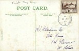 1943 Jersey 1½d Brown Views, General View Jersey Colour Postcard, Jersey Channel Islands cds