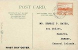 1943 Jersey 2d Orange Views, St. Helier Jersey Colour Postcard, Jersey Channel Islands cds