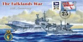 2007 The Falkland War 25th Anniversary HMS Hermes Cover, 25th Anniversary of the Falkland Conflict Falkland Road London N8 H/S