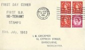 1963 2s Holiday Booklet Se-Tenant Pane, I.R Crickmer Display FDC, Worcester Cancel