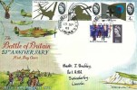 1965 Battle of Britain, Rembrandt FDC, 3x 4d & 9d stamps only, Swinderby RAF PO Lincoln cds