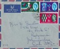 1962 National Productivity Year, Air Mail FDC to South Africa, Crathie Ballater cds