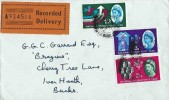 1962 National Productivity Year, Recorded Delivery Plain FDC, London WC 13 cds