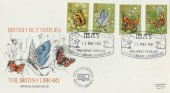 1981 Butterflies British Library Official Colour FDC, May Philatelic Displays British Library London WC H/S