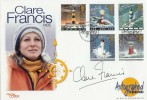 1998 Lighthouses Westminster Official FDC. Signed by Clare Francis