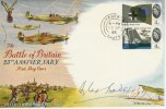 1965 Battle of Britain FDC signed by Douglas Bader + Postcard.