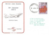 1973 European Communities Cotswold Airbus Industry FDC. Hatfield cds