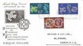 1961 CEPT  Illustrated FDC, Conference of European Postal Telecommunications Torquay Slogan Postmark
