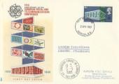 1969 Notable Anniversaries, Philart 10th Anniversary of CEPT FDC, 9d Stamp only, London EC FDI plus Strasbourg Conseil de L'Europe H/S.