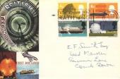 1966 British Technology, Connoisseur FDC,  Visit Roman Bath 2000 Years of History Slogan Bath Somerset.