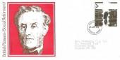 1976 Social Pioneers, Lord Shaftesbury FDC, 11p Lord Shaftesbury Stamp, Croydon Surrey FDI.