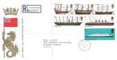 1969 British Ships, Registered GPO FDC, Buckingham Palace SW1 cds.